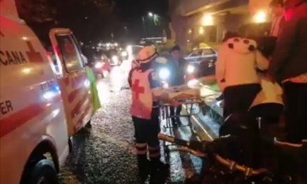 Motociclista lesionado a la altura de Plaza Ánimas