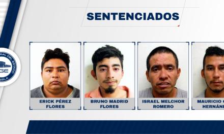 4 secuestradores son sentenciados a 50 años de prisión, son originarios de Veracruz, CDMX Y Puebla