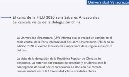 UV lanza comunicado sobre la FILU 2020