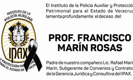 Esquela: Profesor Francisco Marín Rosas Q.E.P.D.