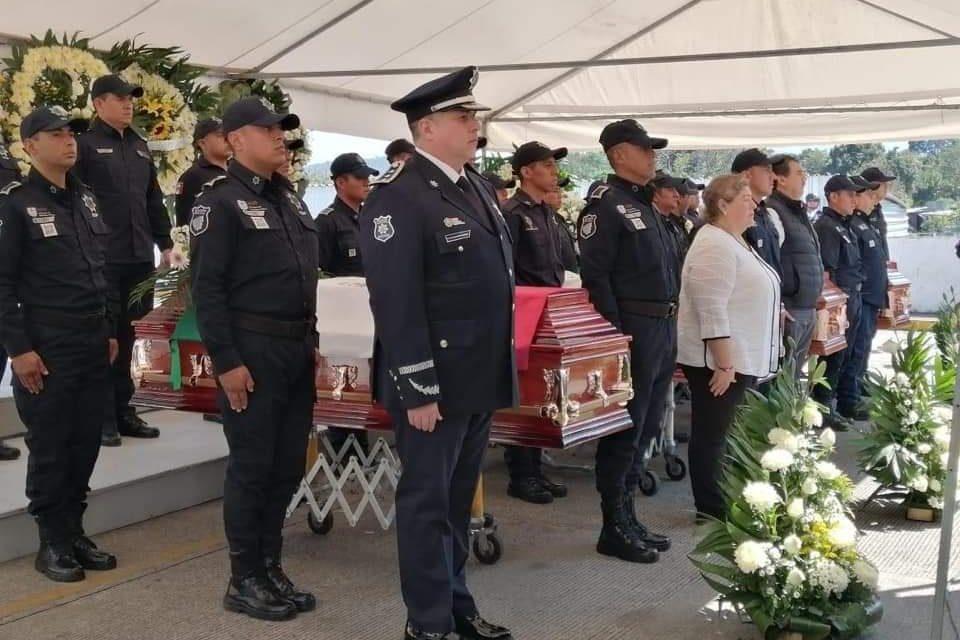 Con honores, despide SSP a policías caídos en Córdoba