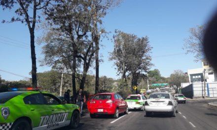 Video: Choque en la avenida Lázaro Cárdenas, a la altura de la estancia Garnica en Xalapa