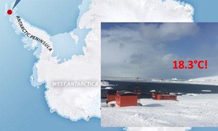 Se registra temperatura récord en la Antártida