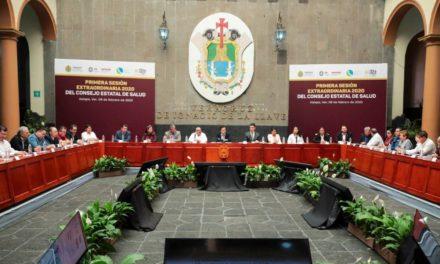 Primera Sesión Extraordinaria 2020 del Consejo Estatal de Salud (Coesa)