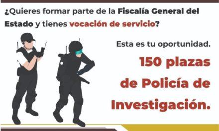Ofrece Fiscalía de Veracruz 150 plazas de policía de investigación con sueldo de 22 mil pesos mensuales