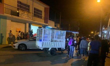 Accidente de tránsito sobre Camino Antiguo a Chiltoyac en Xalapa