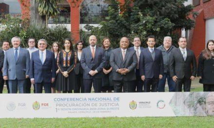 La Fiscalía General del Estado de Veracruz FGE es sede de la Primera Sesión Ordinaria de la Conferencia Nacional de Procuración de Justicia Zona Sureste