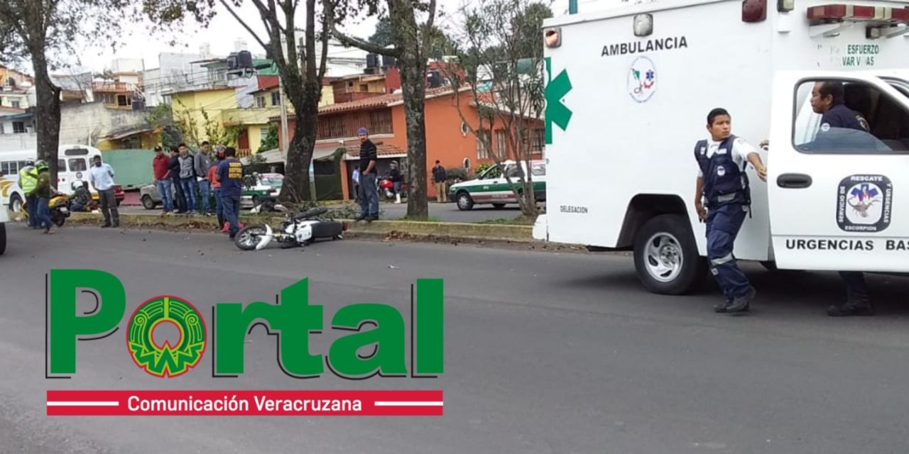 Muere motociclista en la avenida Ruiz Cortines en Xalapa