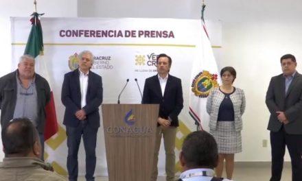 Gobernador de Veracruz da la bienvenida a la Comisión Nacional del Agua
