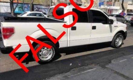 Información Falsa circula en redes sociales sobre una supuesta camioneta blanca en Xalapa