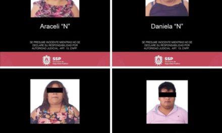 Detiene SSP a cuatro personas por delitos contra la salud, en Espinal