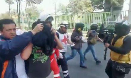 Al menos tres lesionados por disturbios en el CCH Azcapotzalco