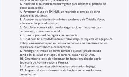 """""""Universidad Veracruzana"""" COVID19: Disposiciones generales"""