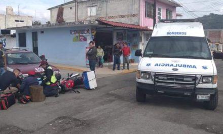 Motociclista lesionado en accidente de tránsito en Pacho Viejo