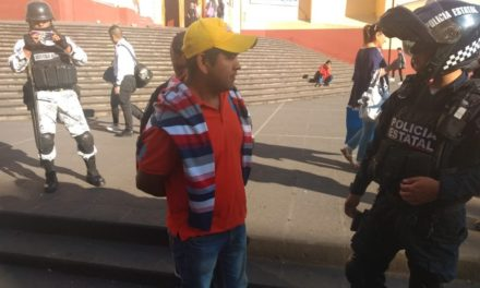 Acosador fue detenido en el centro de Xalapa por elementos Elementos de la Guardia Nacional