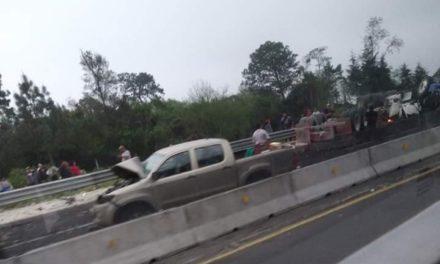 Accidente en la autopista Xalapa-Puebla dirección CDMX