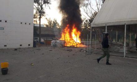Un vehículo con explosivos estalló cerca de un cuartel de la Guardia Nacional en Celaya, Guanajuato; hay dos elementos lesionados