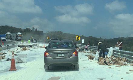 Se registra accidente en la autopista Xalapa-Las Vigas