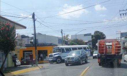 Choque en avenida 20 de Noviembre esquina Madero