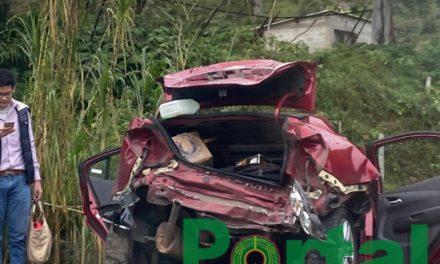 Fuerte accidente en la carretera Xalapa-Coatepec, a la altura de Los Arenales