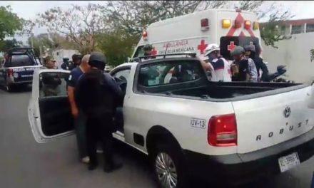 Persona herida en intento de asalto en calles del puerto de Veracruz