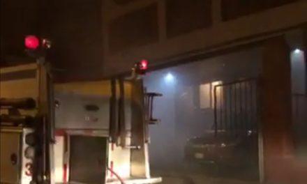 Se registra incendio en calle Sebastián Bach en Indeco Ánimas