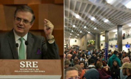 Agradece Marcelo Ebrard al gobierno de Perú y a Interjet por el vuelo humanitario que la aerolínea programó para mañana miércoles entre Lima México