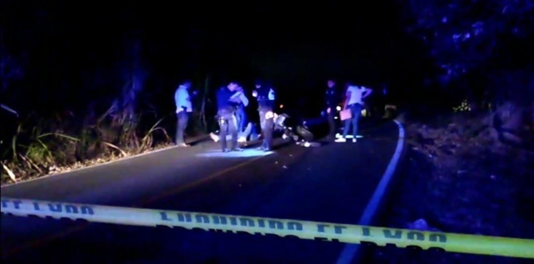 Disparan a motociclistas en la carretera Las Trancas- Coatepec, a la altura de Tuzamapan
