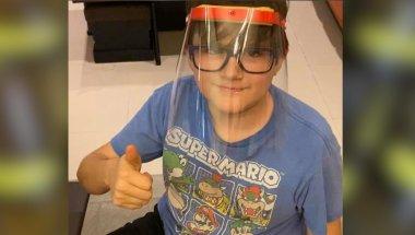 Niño mexicano fabrica máscaras protectoras para trabajadores de la salud que enfrentan el covid-19