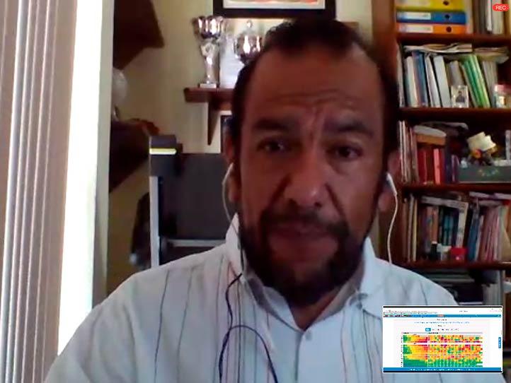 """Carlos Welsh Rodríguez, investigador del CCT-UV, impartió la videoconferencia """"Covid-19, clima y aire"""""""