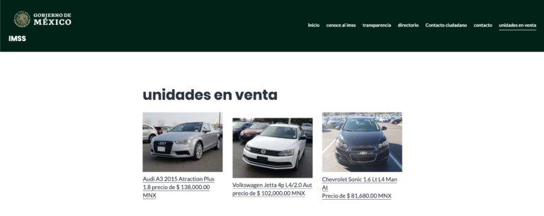 FALSO: IMSS vende automóviles a través de internet