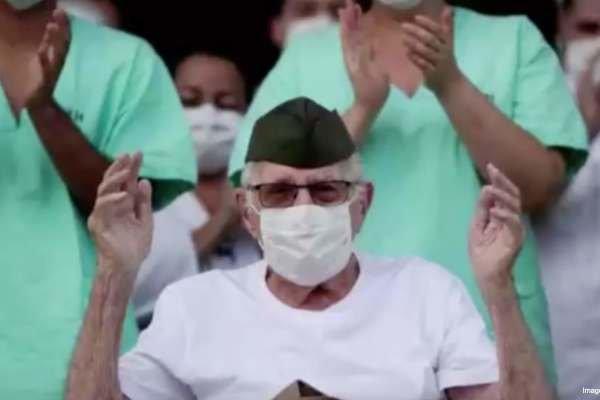 Hombre brasileño de 99 años es dado de alta tras recuperarse del coronavirus.