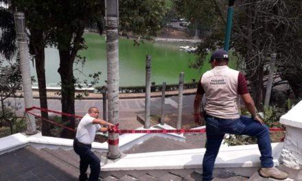 SE RESTRINGE ACCESO AL PASEO DE LOS LAGOS