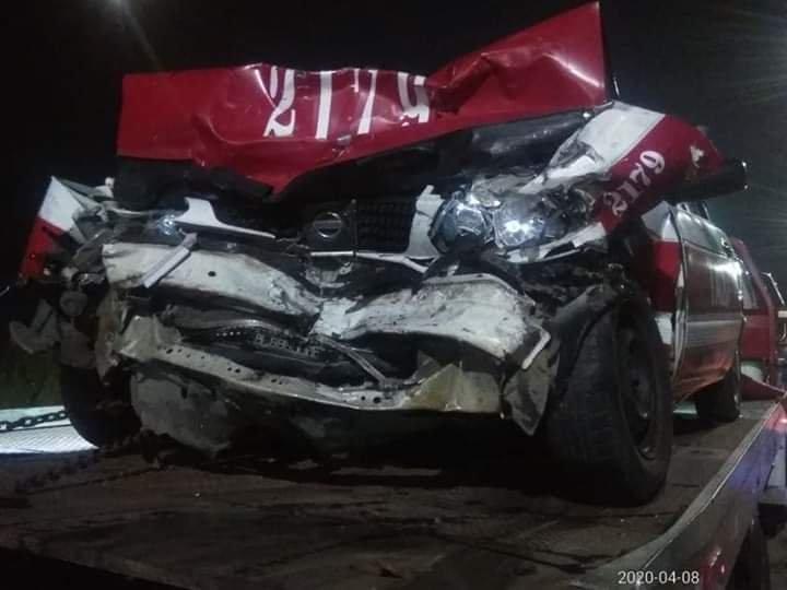 La noche de este miércoles, un taxista murió en fuerte accidente en la prolongación de Reyes Aztecas de Minatitlán