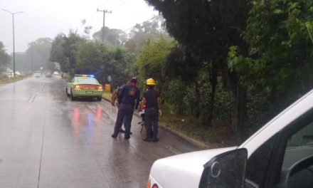 Motociclista lesionado en la carretera Xalapa – Coatepec