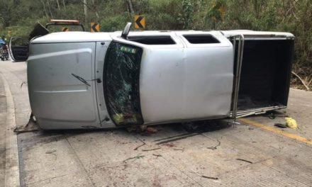 Fuerte accidente en la carretera Xalapa – Coatepec, via Las Trancas