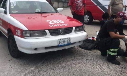 Motociclista lesionado en la carretera Xalapa – Coatepec, via Briones