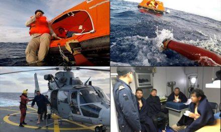 Rescata Marina a cinco pescadores náufragos al suroeste de Ensenada, B. C