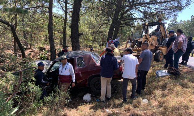Accidente en la carretera federal Perote-Xalapa, a la altura de Toxtlacoaya.