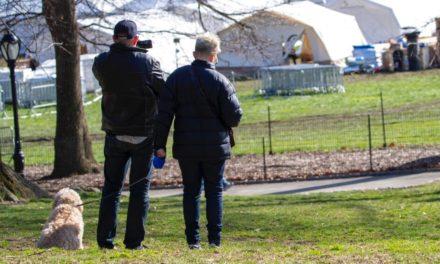 Instalan pabellón médico en Central Park