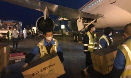 Llega a México avión procedente de China con insumos médicos para coronavirus
