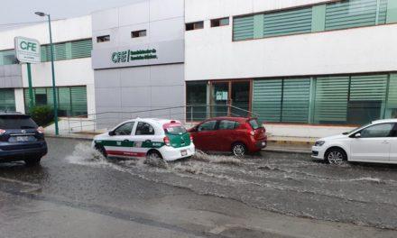 Se inundó la recién inaugurada calle Allende