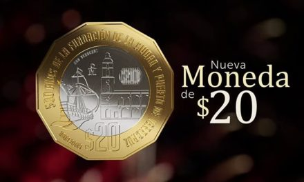 El BancodeMéxico ha puesto en circulación una nueva moneda de $20 con motivo de los 500 años de la Fundación de la Ciudad y Puerto de Veracruz