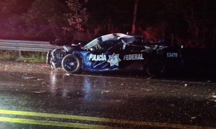 Muere elementos de la Policía Federal en accidente sobre la carretera Las Choapas-Ocozocuautla