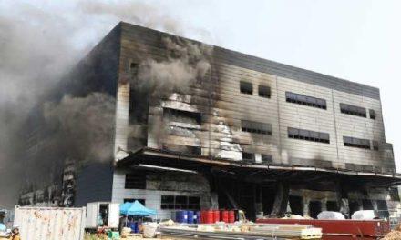 Mueren al menos 25 obreros durante incendio en Icheon, Corea del Sur