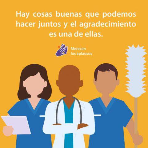 Los alumnos de FCAS señalaron la importancia de reconocer el trabajo del personal de salud