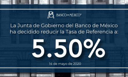 Banco de México baja de 6 a 5.5% la tasa de interés interbancaria