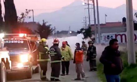 Video:Fuga de gas en toma clandestina en Amozoc, Puebla provocó la evacuación de mil personas
