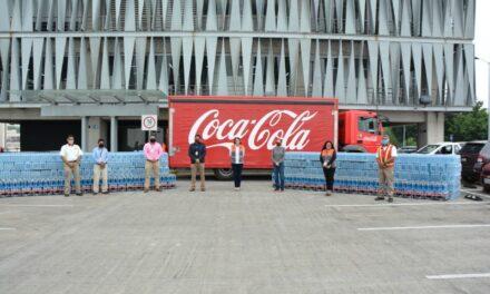 Recibe secretaría de Protección Civil de Veracruz, 10,200 botellas de agua para población vulnerable