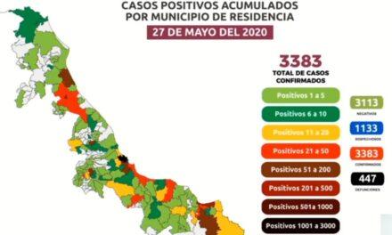 Veracruz 1306, Coatzacoalcos 412, Poza Rica 300, Boca del Río 164, Minatitlán 146, Tuxpan 77, Córdoba 67, Medellín 56, Xalapa 55,